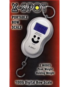 A027262 X-SPOT BOW SCALES 100LBS / PEAK AND HOLDING